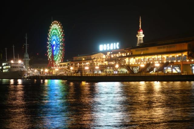 夜の神戸モザイク